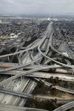 Los Angeles  Aerial of Judge Harry Pregerson Interchange and Highway
