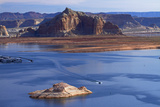 Arizona  Boats on Lake Powell at Wahweap  Far Shoreline Is in Utah
