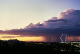 Lightning and Rain Storm Sonoran Desert  Tucson  Arizona