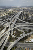 Los Angeles  Aerial of Judge Harry Pregerson Interchange and Highway