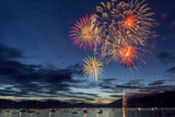 4th of July Fireworks over Whitefish Lake in Whitefish  Montana