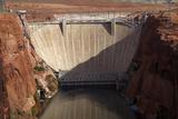 Glen Canyon Dam across Colorado River Arizona
