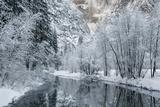 USA  California  Yosemite National Park Winter Landscape of Merced River
