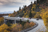 North Carolina  Linville  Linn Cove Viaduct with Traffic in Fall