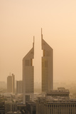 Sunset Engulfs the Jumeirah Emirates Towers Hotel Dubai  Uae