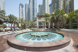 Fountain on the Dubai Marina Walk  Dubai  United Arab Emirates