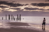 Australia  Fleurieu Peninsula  Port Willunga  Old Jetty  Dusk