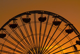 Los Angeles  Santa Monica  Ferris Wheel at Sunset  Santa Monica Pier