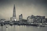 England  London  Shard Building from Millennium Bridge  Dusk