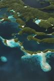 Palau  Micronesia  Rock Islands  Aerial View of Rock Islands