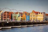 Dutch Architecture Lines the Wharf at Willemstad  Curacao  West Indies