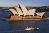 Australia  Sydney  Circular Quay  Sydney Opera House at Dusk