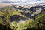 The Free Gondola and the Town of Telluride Below  Colorado