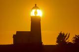 Setting Sun Behind Oregons Oldest Lighthouse at Cape Blanco Sp  Oregon