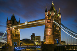 England  London  Tower Bridge  Dusk