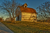 USA  Indiana  Rural Scene of Red Roofed Barn