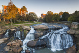 South Carolina  Greenville  Falls Park on the Reedy River  Dawn