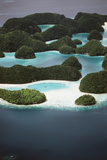 Palau  Micronesia  Ariel View of Rock Islands