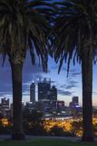 Australia  Perth  City Skyline from Kings Park  Dawn
