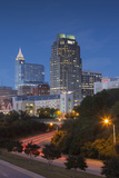 North Carolina  Raleigh  City Skyline  Dusk