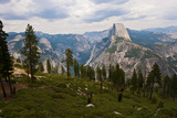 California  Yosemite National Park  Half Dome  North and Basket Domes