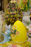 Australia Easter Display of Chocolate Eggs and Stuffed Easter Bunny