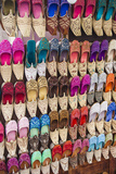 Arabic Slippers in the Textile Souk in Bur Dubai  Dubai  Uae