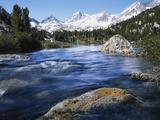 California  Sierra Nevada  Lichen Covered Rock  Rock Creek  Sierra Nf