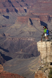 Arizona  Grand Canyon National Park  Grand Canyon and Tourists at Mather Point