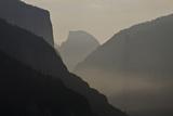California  Yosemite National Park  Artists Point  El Capitan  Sentinel Dome