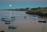 Massachusetts  Cape Ann  Rockport  Rockport Harbor  Moonrise