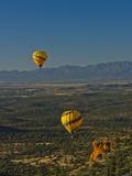 Hot Air Balloons  Red Rock  Coconino Nf  Sedona  Arizona  USA