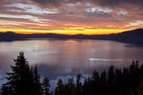 Sunrise  Crater Lake National Park  Oregon  USA