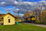 Cuyahoga Valley Scenic Railroad in Autumn in Cuyahoga National Park  Ohio  USA