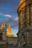 Sunset on Radcliffe Camera and All Souls College  Oxford  England