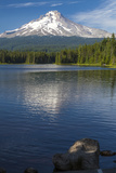Mt Hood  Oregon Reflected and Shining over Trillium Lake