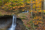 Blue Hens Falls in Autumn in Cuyahoga National Park  Ohio  USA