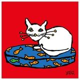 White Cat Reproduction d'art par Yaro