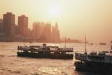 Hong Kong  Tsim Sha Tsui  View of Skyline and Star Ferry