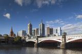 Australia  Victoria  Melbourne  Yarra River and Princess Bridge