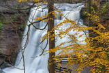 Brandywine Falls in Autumn in Cuyahoga National Park  Ohio  USA