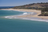Australia  Fleurieu Peninsula  Christies Beach  Elevated Beach View