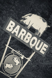 North Carolina  Bryson City  Sign for Barbeque  Bbq  Restaurant