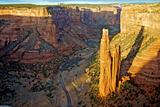 Spider Rock in Canyon De Chelly  Arizona