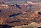 Utah  Canyonlands National Park  White Rim and Green River  Island in the Sky