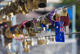 Australia  Victoria  Melbourne  Love Locks on Yarra River Footbridge