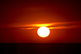 Florida  Siesta Key  Crescent Beach  Ball of Fire in a Red Sunset