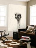 Watercolor Ostrich 2 Toile Murale Géante par Ben Gordon