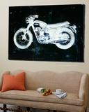 Moto White Toile Murale Géante par JB Hall