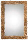 Carasco Antiqued Gold Wall Mirror